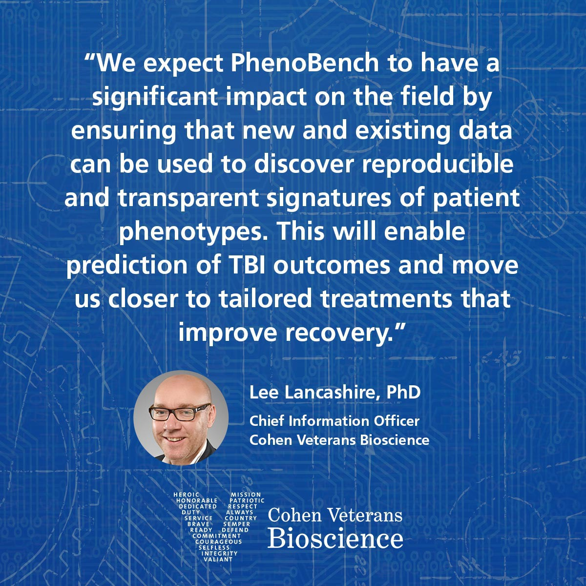 Quote from Dr. Lee Lancashire
